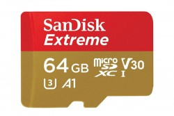SanDisk Extreme MicroSDXC 64GB Front View