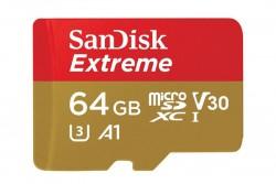 SanDisk Extreme MicroSDXC 64GB Front View