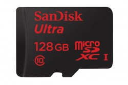 SanDisk Ultra MicroSDXC 128GB Memory Card - Front View