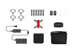 dji spark fly more combo (lava red)